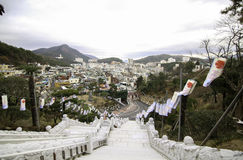 Templo de la calzada en Busán Corea Imágenes de archivo libres de regalías