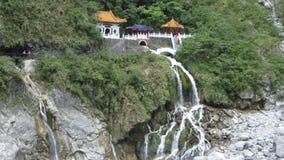 Templo de la cascada de Taiwán Fotografía de archivo