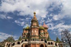 Templo de la catedral de la albahaca del santo de la albahaca la Plaza bendecida, Roja, Moscú, Rusia fotos de archivo libres de regalías