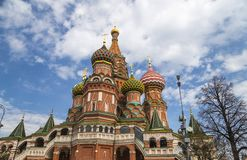 Templo de la catedral de la albahaca del santo de la albahaca la Plaza bendecida, Roja, Moscú, Rusia foto de archivo