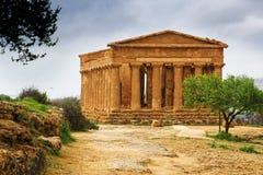 Templo de la concordia - Sicilia Imágenes de archivo libres de regalías