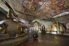Templo de la cueva de Dambulla Foto de archivo libre de regalías