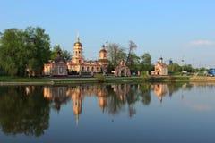Templo de la exaltación de la cruz santa. Moscú. Rusia Foto de archivo libre de regalías