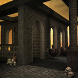 Templo de la fantasía en el amanecer Foto de archivo