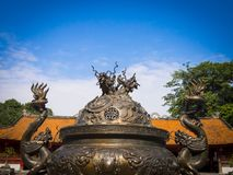 Templo de la literatura en Hanoi foto de archivo