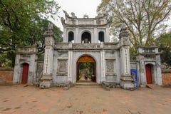Templo de la literatura en Hanoi, Vietnam fotografía de archivo libre de regalías
