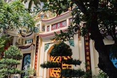 Templo de la literatura, la furgoneta Mieu, en el centro de Hanoai imagenes de archivo