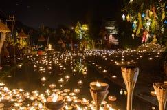 Templo de la noche Fotografía de archivo libre de regalías