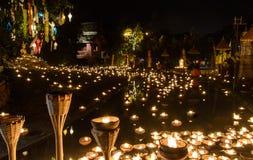 Templo de la noche Fotos de archivo libres de regalías