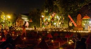 Templo de la noche Imagen de archivo libre de regalías