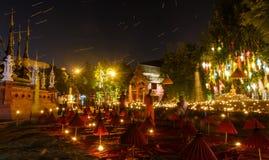 Templo de la noche Fotografía de archivo