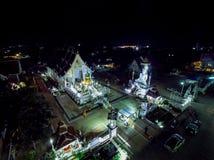 Templo de la noche en Tailandia Imágenes de archivo libres de regalías