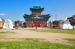Templo de la pista pura en el Ivolginsky Datsan Imagen de archivo libre de regalías
