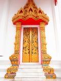 Templo de la puerta en Wat-chom-phu-wek Tailandia Fotografía de archivo libre de regalías
