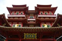 Templo de la reliquia del diente de Buddha, Singapur Foto de archivo libre de regalías