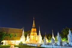 Templo de la señal tailandés Foto de archivo libre de regalías