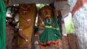 Templo de la serpiente en la India al aire libre almacen de metraje de vídeo