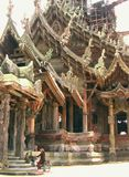 Templo de la verdad Pattaya, Tailandia Imagenes de archivo