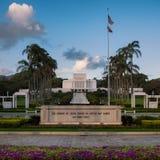 Templo de Laie Havaí foto de stock