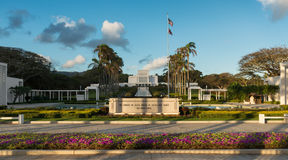 Templo de Laie Hawaii Imagenes de archivo