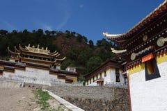 Templo de Langmusi del tibetano Foto de archivo