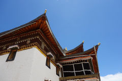 Templo de Langmusi del tibetano Imagen de archivo libre de regalías