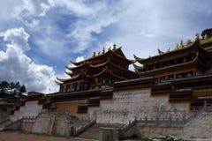 Templo de Langmusi do tibetano Imagem de Stock Royalty Free