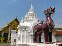 Templo de Lanna, Wat Phra That Hariphunchai, Lmpoon, Tailandia Fotografía de archivo