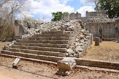 Templo de las Tableros, Chichen Itza. Templo de las Tableros, is a Maya ruined structure at the Chichen Itza archaeological site in the Mexican state of Yucatan Stock Image