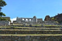 ` Templo De Las Tres ventanas ` świątynia przy inka miastem Mach Picchu, Peru Zdjęcie Royalty Free