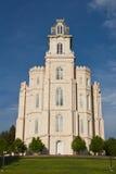 Templo de LDS Manti Utá Foto de Stock Royalty Free