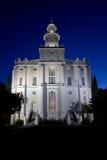 Templo de LDS San Jorge Fotos de archivo libres de regalías