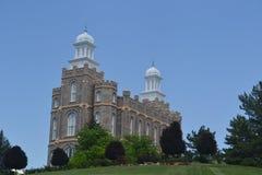 Templo de Logan Utah fotos de archivo
