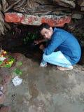 Templo de Lord ShivaIswara Mahadev com auto do Sr. Awadhesh imagem de stock royalty free