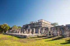 Templo de los guerreros Sitio arqueológico de Chichen Itza, península del Yucatán, México Fotos de archivo