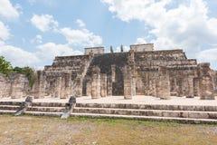 Templo de los Guerreros, templo de los guerreros en Chichen Itza, México Imagen de archivo
