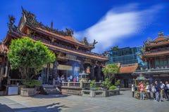 Templo de Lungshan de Manka Fotografía de archivo