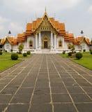 Templo de mármol de Bangkok Tailandia Foto de archivo libre de regalías