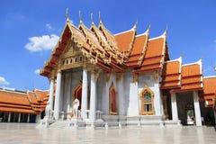 Templo de mármol en Bangkok Fotografía de archivo libre de regalías
