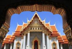 Templo de mármol en Bangkok Imagenes de archivo