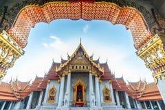 Templo de mármol en Bangkok, Tailandia imagen de archivo