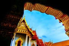 Templo de mármore de Banguecoque - Wat Benchamabophit imagens de stock