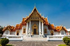 Templo de mármore em Banguecoque Imagem de Stock Royalty Free