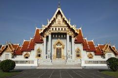 Templo de mármore em Banguecoque, Tailândia Foto de Stock