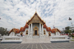 Templo de mármore em Banguecoque, Tailândia Fotografia de Stock