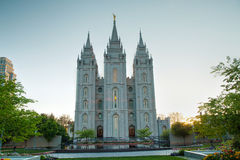 Templo de mórmons em Salt Lake City, UT Foto de Stock Royalty Free