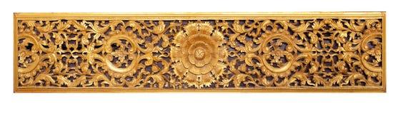 Templo de madeira do ofício das belas artes tailandesas em público foto de stock