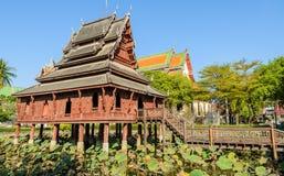 Templo de madeira tailandês Fotos de Stock Royalty Free