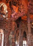 Templo de madera en Pattaya Foto de archivo