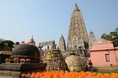 Templo de Mahabodhi Imagen de archivo